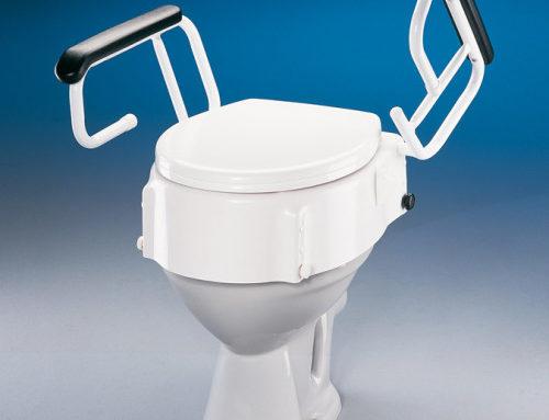Elevador WC con reposabrazos y regulable en altura